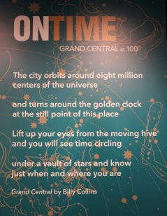 Former U.S. Poet Laureate Billy Collins was commissioned to write this poem for Grand Central's Centennial