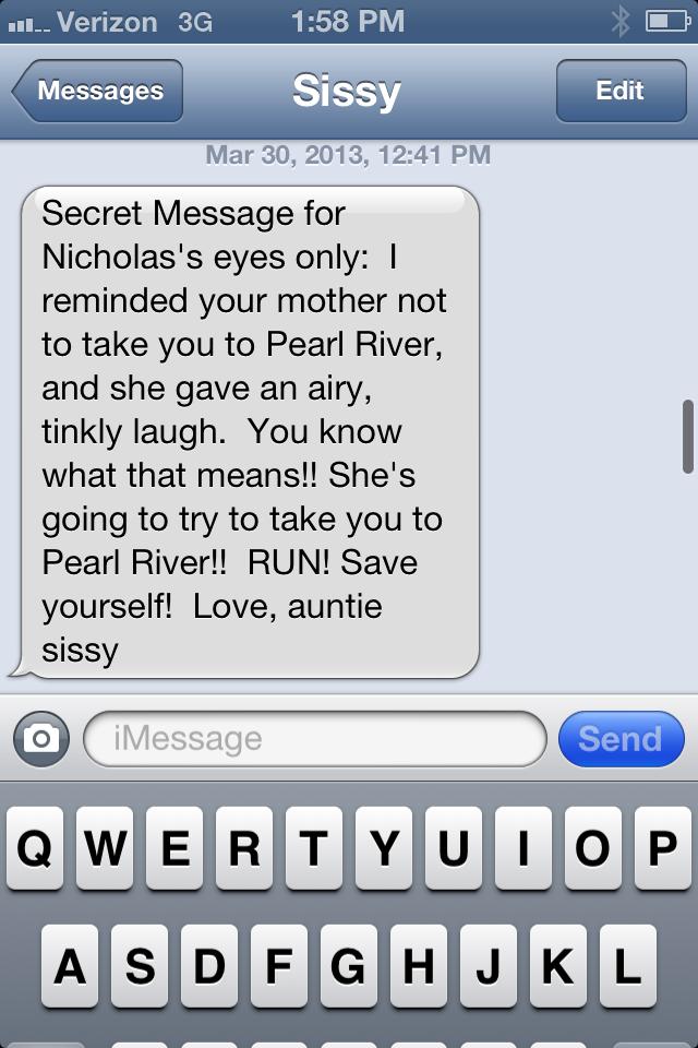 Sissy's text