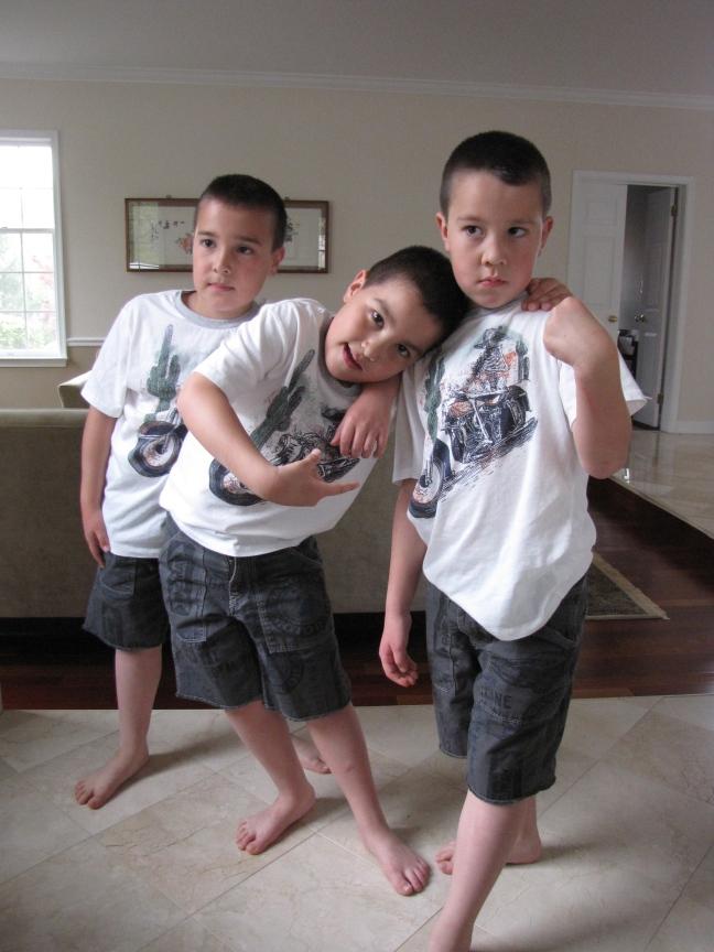 Posing for their boy band album cover