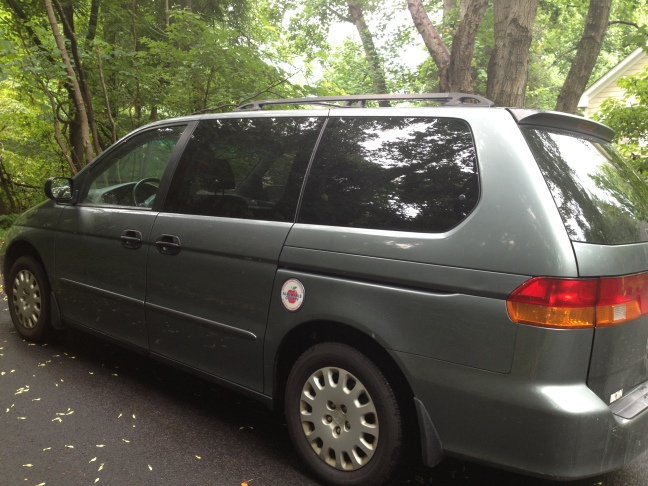 My sweet pimped out ride. See that Albemarle County Schools magnet on the gas cap? Custom, Baby.