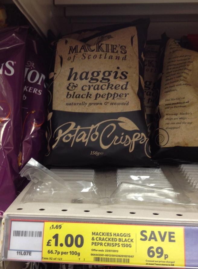 "Haggis Potato Chips, I mean ""Crisps""!"