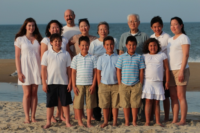 My tribe minus Colin (the photographer) and my brother's family, who had to leave early.