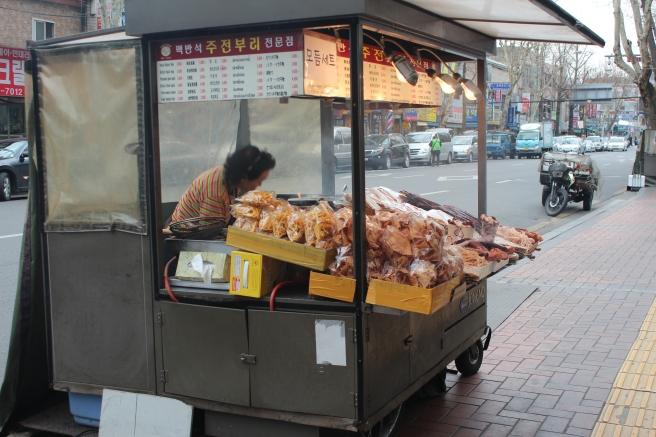 Dried squid vendor!