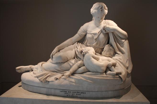 Latona and Her Children, Apollo and Diana, William Henry Rinehart, 1874