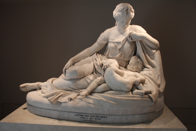 Latona and Her Children, Apollo and Diana, William Henry Rinehart, 1874