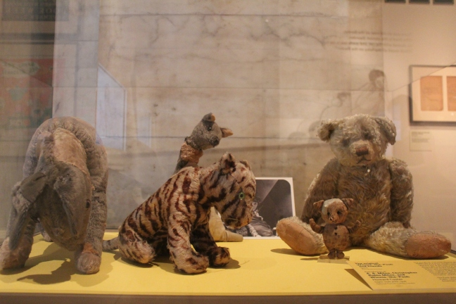 The actual Eeyore, Kanga, Tigger, Winnie the Pooh, and Piglet!