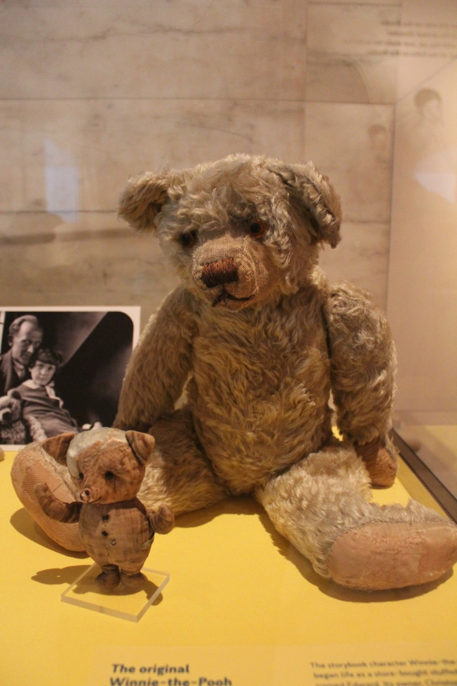 Pooh and friends were donated to the New York Public LIbrary in 1987 by Dutton, Milne's American publisher.