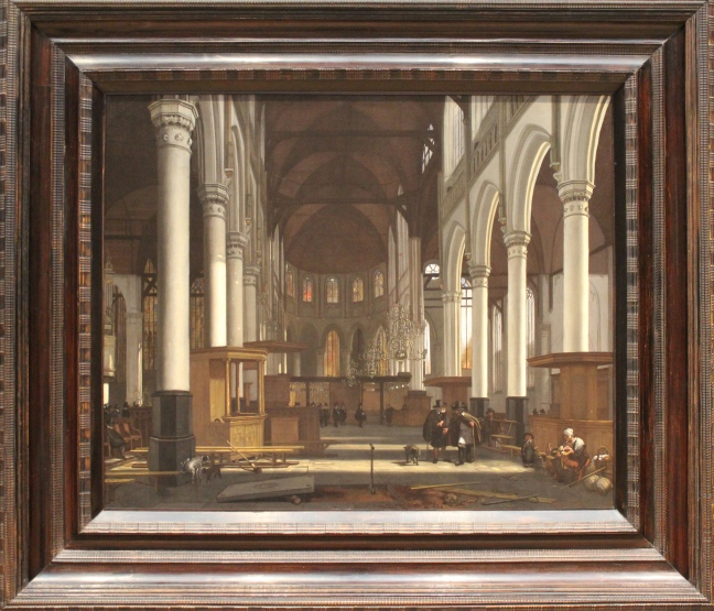 The Interior of Oude Kerk, Amsterdam by Emmanuel DeWitte, c. 1660/1665
