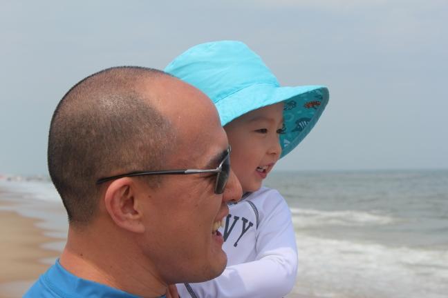 Dad & Beach Baby