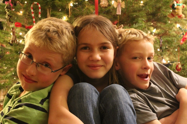 Kids Christmas portrait