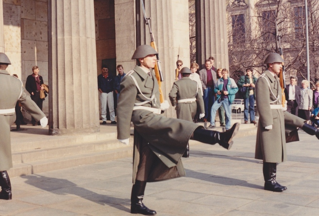 goose stepping guards