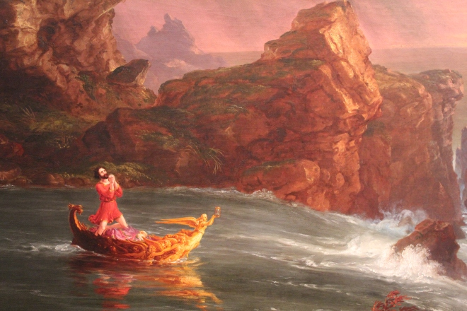 """The Voyage of Life: Manhood,"" Thomas Cole, 1840."