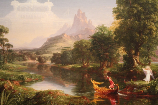 """The Voyage of Life: Youth,"" Thomas Cole, 1840."