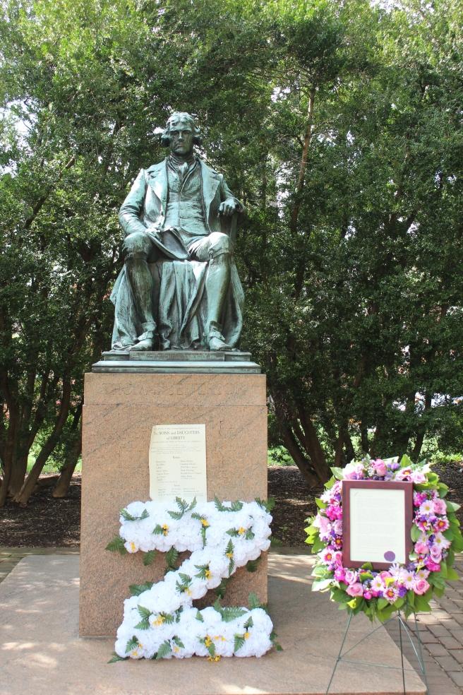 Founder's Day tributes on Monday - Thomas Jefferson's birthday.