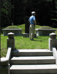 Visiting family graves