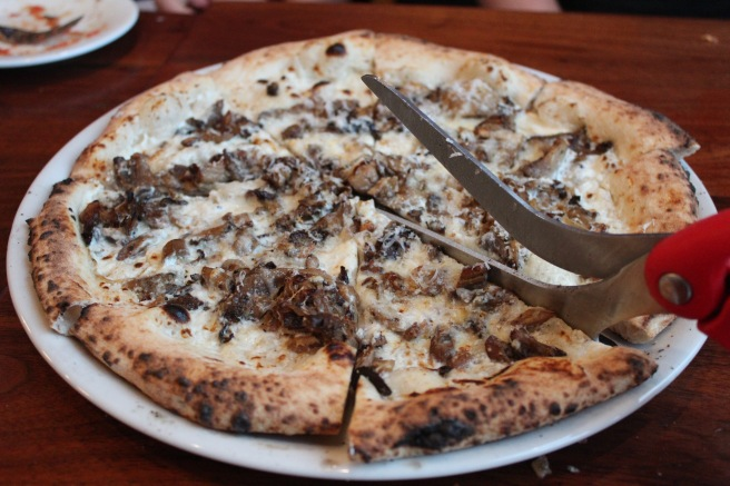 Funghi Pizza - Love the awesome pizza shears!