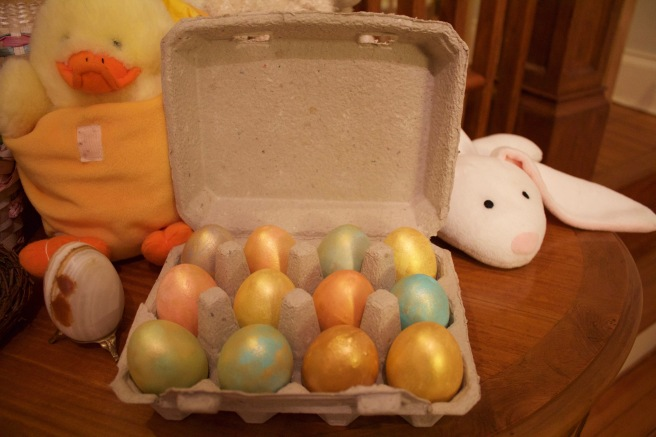 Our gilded eggs
