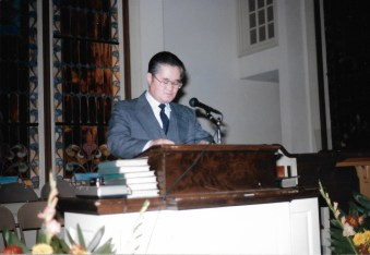 Dad at the pulpit in 1984