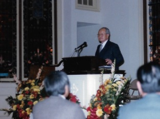My grandpa at the pulpit in 1984